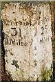 NY8793 : Old Milestone by the A696, north west of Otterburn by C Minto