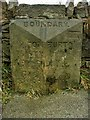 SD6913 : Old Boundary Marker by the A675, north west of Bolton by Milestone Society