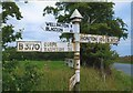 ST2312 : Old Direction Sign - Signpost by Milestone Society