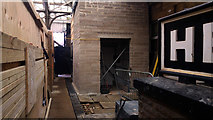 SD9926 : Passenger lift under construction on platform 2 at Hebden Bridge railway station by Phil Champion