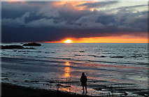 NX1896 : Lady Admiring the Sunset at Ainslie Shore by Billy McCrorie