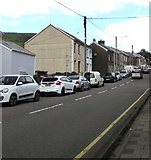 SS9389 : On-street parking, High Street, Ogmore Vale by Jaggery