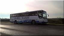 TF1505 : Shaws of Maxey coach on Lincoln Road, Glinton by Paul Bryan