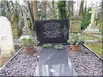 TQ2886 : A footballer's grave in Highgate Cemetery by Marathon