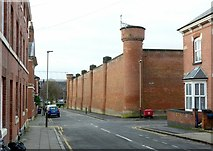 SK5803 : County Gaol, Leicester, on Newtown Street by Alan Murray-Rust