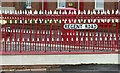 SK5803 : Railings at Crescent Cottages, King Street, Leicester by Alan Murray-Rust