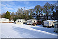 NZ1036 : Static caravans at Bradley Burn Farm by Trevor Littlewood