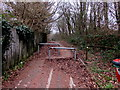 ST1494 : Metal barriers across a footpath and cycleway, Ystrad Mynach by Jaggery