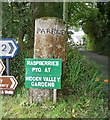 SX0858 : Old Guide Stone by the B3269, Pelyndowns, Lanlivery Parish by Milestone Society