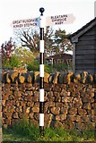 NY7613 : Old Direction Sign - Signpost by Swillings Lane, Little Musgrave by Milestone Society