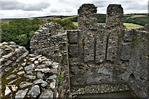 SX1061 : Restormel Castle: The Chapel east window, blocked during the Civil War by Michael Garlick