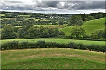 SX1061 : Restormel Castle: View from the Wall-walk above the Kitchen by Michael Garlick