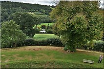 SX1061 : Restormel Castle: View from the Wall-walk above the Hall by Michael Garlick