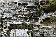 SX1061 : Restormel Castle: Detail of doorway from the Lord's Chamber to the Hall by Michael Garlick