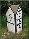 SN0403 : Old Milestone by the A477, east of Milton, Carew Parish by Milestone Society