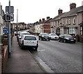 ST3289 : Speed camera warning sign, Caerleon Road, Newport by Jaggery