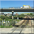 TQ4401 : The A259 crosses the railway, Newhaven by Robin Stott
