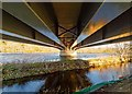 NH6543 : Holm Mills Bridge and Lade by valenta