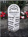 SE4433 : Old Milestone by the Great North Road, Micklefield by C Minto