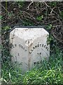 SN3859 : Old Milestone by the A486, New Quay by Milestone Society