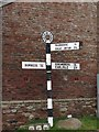 NY3259 : Old Direction Sign - Signpost in Burgh by Sands, Carlisle by Milestone Society