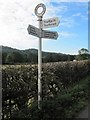 SJ2623 : Old Direction Sign - Signpost by Milestone Society