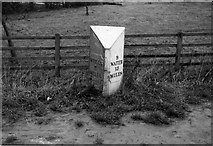 ST4636 : Old Milepost by Milestone Society