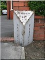 SD3234 : Old Boundary Marker on Preston New Road by Milestone Society