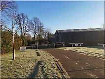 TQ1070 : Kempton Park Buildings by James Emmans