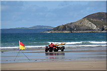 SM8422 : Lifeguard at Newgale Sands by Simon Mortimer
