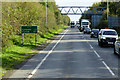NX9877 : Footbridge over the Dumfries Bypass at Bloomfield by David Dixon