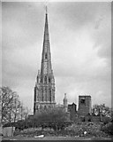 ST5972 : St Mary Redcliffe & the Shot Tower from the west by Martin Tester