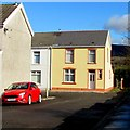 SN9902 : Yellow house and red car, Aberdare by Jaggery