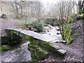 SE0628 : Footbridge over Hebble Brook at Jumples, Mixenden by Humphrey Bolton