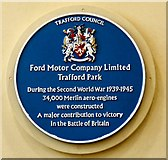 SJ7796 : Blue plaque: Ford Motor Company by Gerald England
