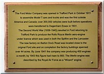 SJ7796 : Ford Motor Company at Trafford Park by Gerald England
