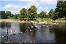 SE0754 : Stepping stones across the River Wharfe by Bill Harrison
