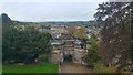 SD9951 : Skipton Castle gatehouse and view over the town by Phil Champion