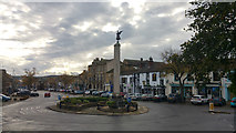 SD9951 : War memorial on roundabout the north end of the High Street, Skipton by Phil Champion