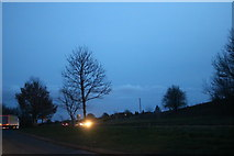SO8468 : Parking area on the A449, Hartlebury by David Howard