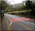 SO4910 : End of the 30 zone at the eastern edge of Mitchel Troy, Monmouthshire by Jaggery