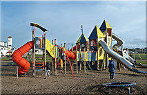 NS3321 : Low Green Play Park by Mary and Angus Hogg