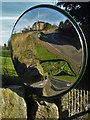 SK4080 : Convex traffic mirror by a bend at Ford by Neil Theasby