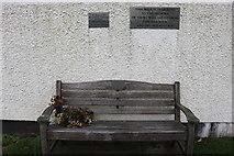 NX6851 : Memorial Seat, Kirkcudbright by Billy McCrorie