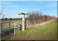 SP7208 : Signpost at the Crossing by Des Blenkinsopp