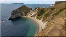 SY8080 : Man o' War Cove and headland at Durdle Door, Dorset by Phil Champion