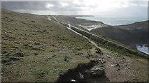 SW8576 : Road from lighthouse, Trevose Head by Derek Harper