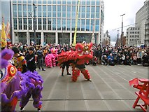 SJ8397 : Manchester, lion dancers by Mike Faherty