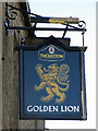 NY8837 : Sign for the Golden Lion by Mike Quinn
