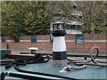 SP0586 : Lighthouse atop a canal boat, Birmingham Canal, Birmingham by Rudi Winter